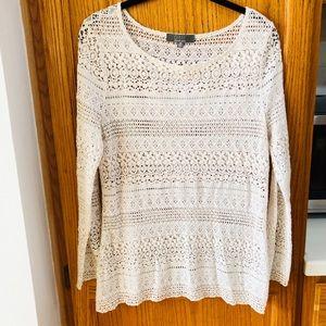 Beautiful white lace Saks Fifth blouse